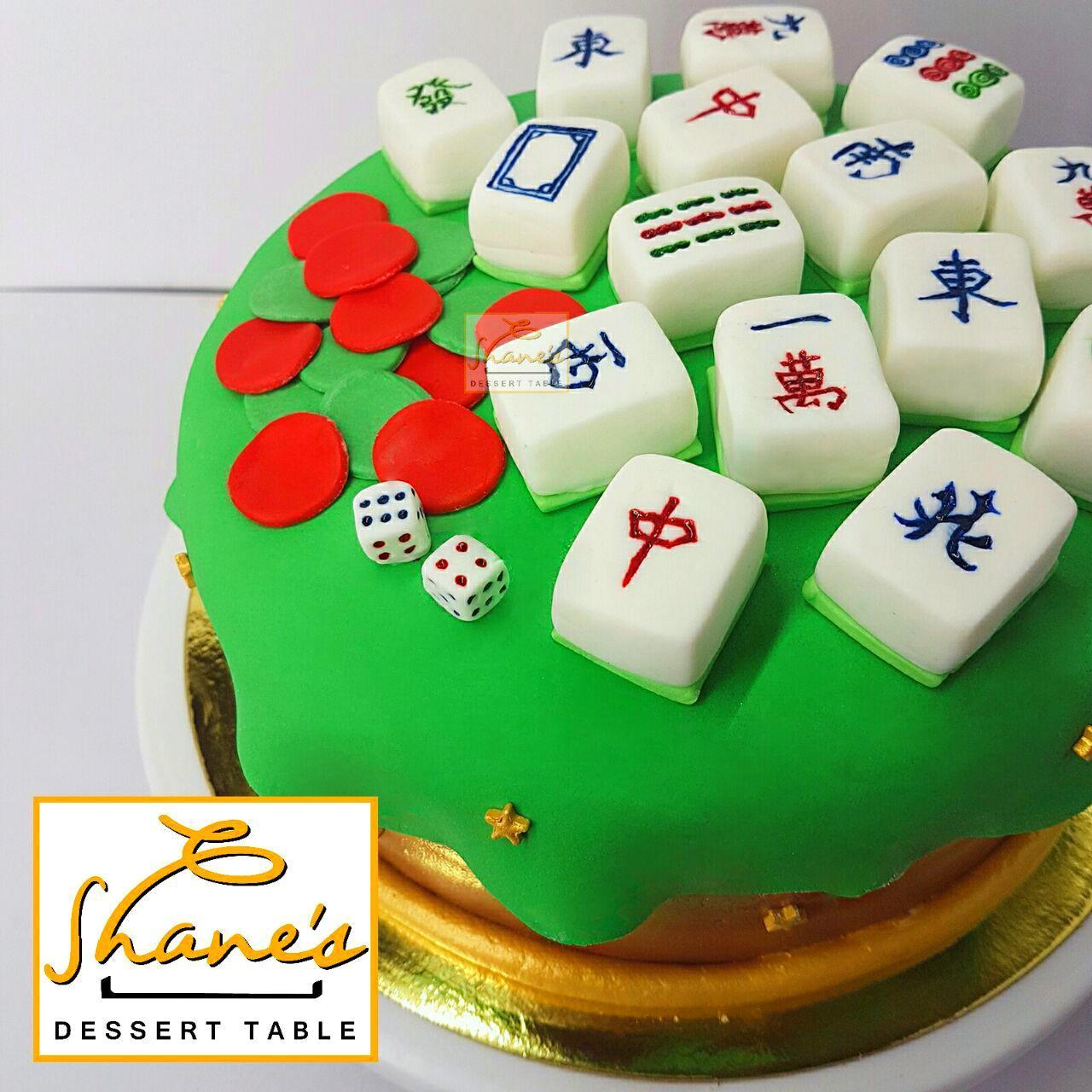 Mahjong Cake Shanes Dessert Table