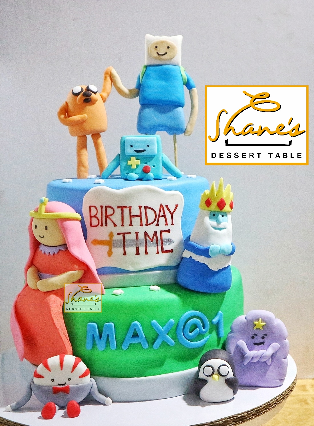 Magnificent Adventure Time Cake Shanes Dessert Table Personalised Birthday Cards Paralily Jamesorg