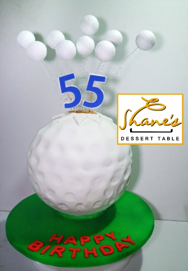 Surprising Golf Themed Cake 2 Shanes Dessert Table Home Interior And Landscaping Pimpapssignezvosmurscom