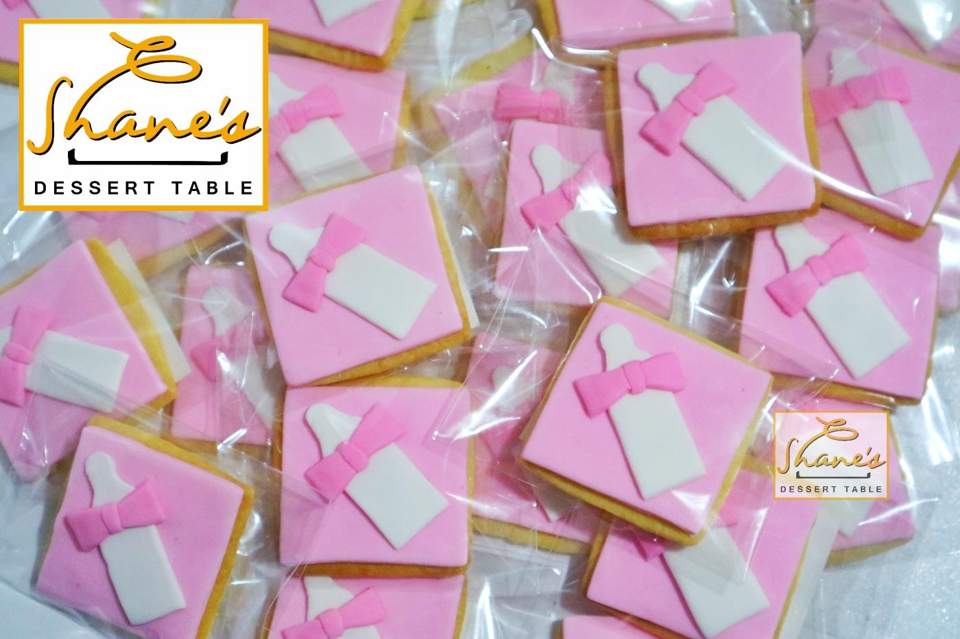 Pink Baby Bottle Sugar Cookies – Shane\'s Dessert Table